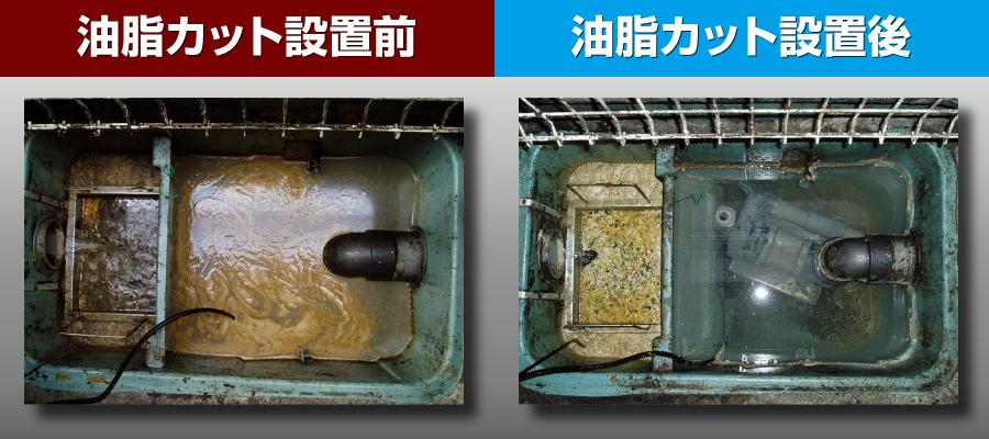 油脂カット 事例(定食屋